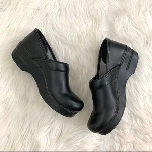 Dansko Professional Black Box Leather Clogs